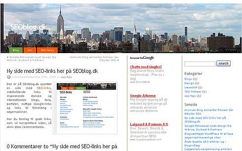 seo blog.dk - den  nye søgemaskineoptimerings-blog