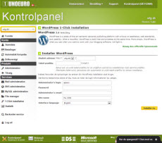 1-click-installation-wordpress-screenshot